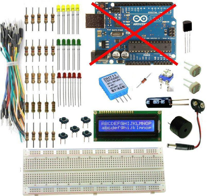 Arduino lcd lm temperature humidity light tilt