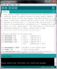 Arduino stepper motor code