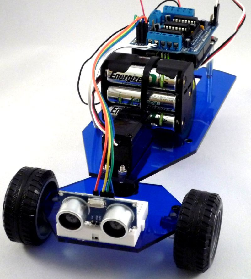 Tronix unotron wd obstacle avoiding robot car without